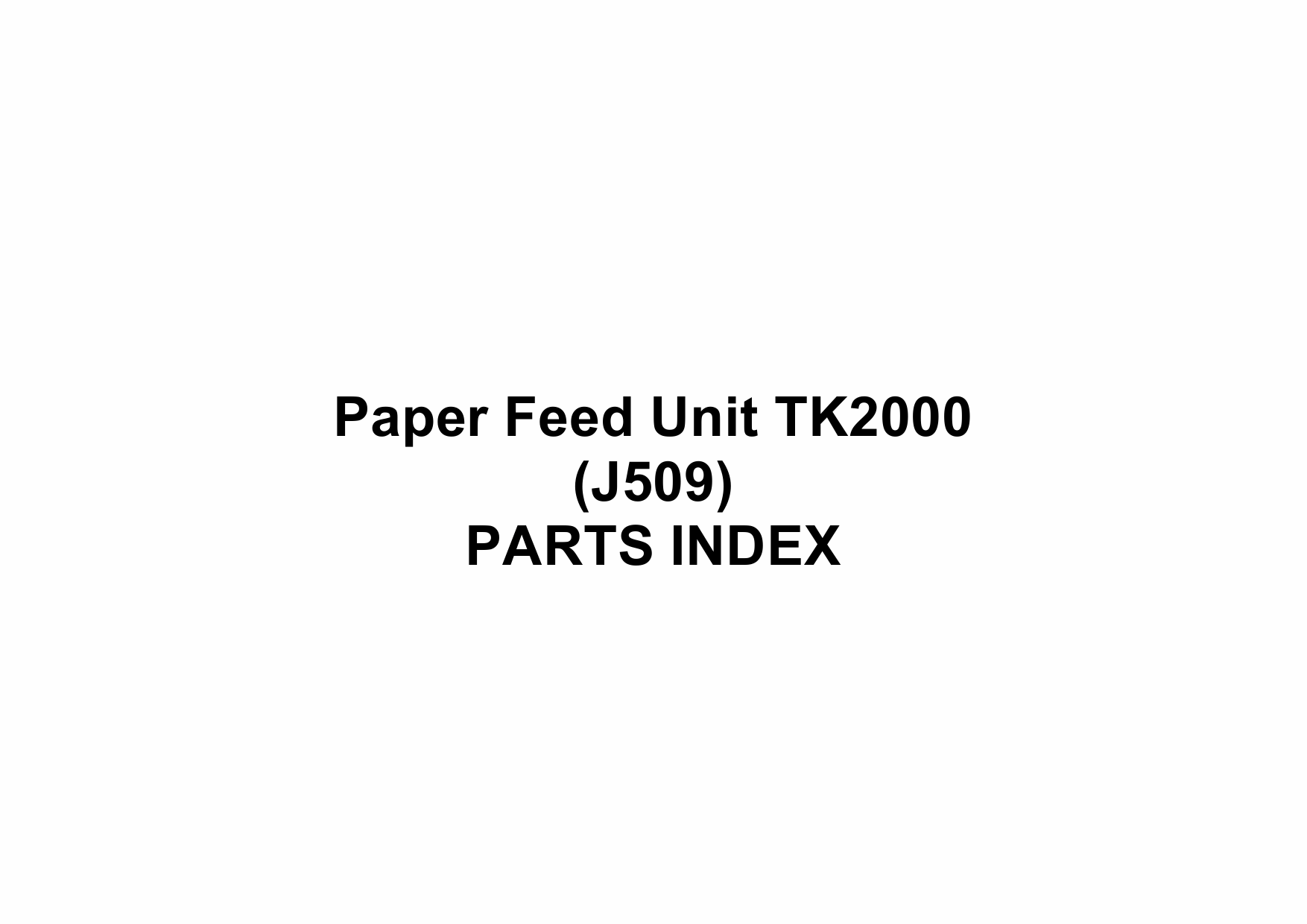 RICOH Options J509 Paper-Feed-Unit-TK2000 Parts Catalog PDF download-6